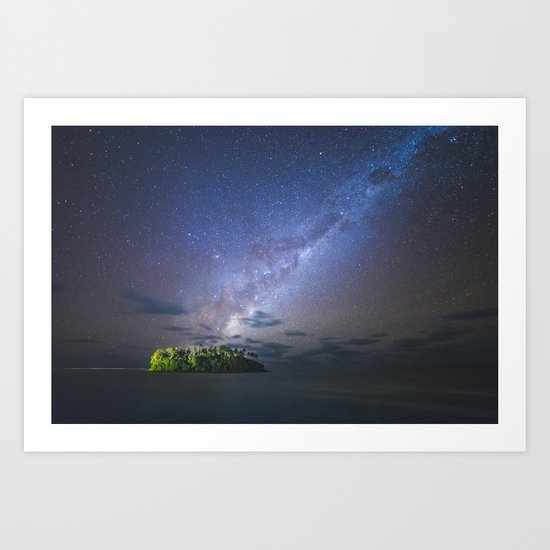 Starry night in the Cook Islands Art Print