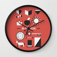 ouat Wall Clocks featuring OUAT - A Queen by Redel Bautista