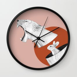 Lioness Bunny Wall Clock