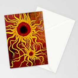 Psychedelic Susan 001, Sunflowers Stationery Cards