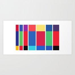 Minimalist Harry Potter Spines Art Print