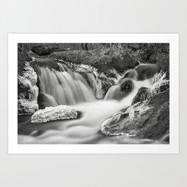 Cascade and Ice. Great Falls National Park, Virginia. Art Print