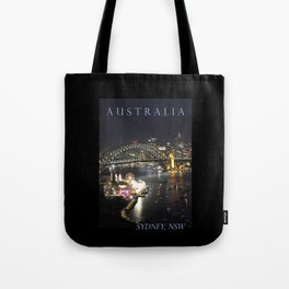 Sydney Night Lights Tote Bag