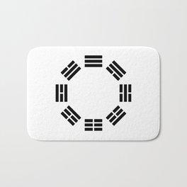 Black Hexagon I ching Feng Philosophy Bath Mat