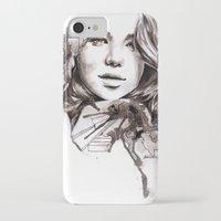 jennifer lawrence iPhone & iPod Cases featuring Jennifer Lawrence by dariemkova