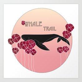 Whale Trail Art Print