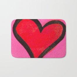 Red Heart Bath Mat