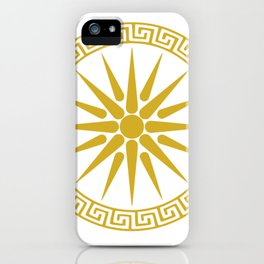 Vergina Sun Macedonian Star Argead Ancient Greek Pride iPhone Case