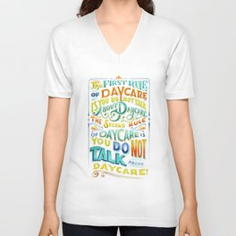 Rules of Daycare Unisex V-Neck