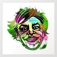 the joker Art Prints featuring JoKER by BIG Colours
