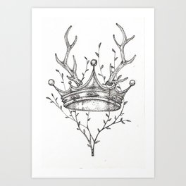 Crown and Stag Art Print