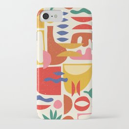 Mid Century Summer Abstraction Pattern iPhone Case