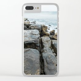 Beachside Rock Formation at Manly Beach, Sydney Clear iPhone Case