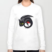 toothless Long Sleeve T-shirts featuring Toothless by Annie Pollock
