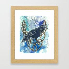 Celtic Raven Framed Art Print