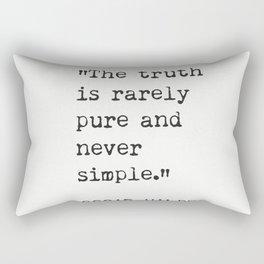 Oscar Wilde quote about true Rectangular Pillow