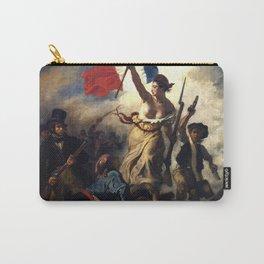 """Eugène Delacroix """"Le 28 Juillet. La Liberté guidant le peuple (Liberty Leading the People)"""" Carry-All Pouch"""