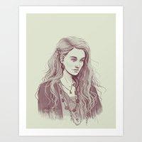 luna lovegood Art Prints featuring Luna Lovegood by aqvarelles