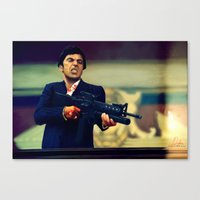 scarface Canvas Prints featuring Scarface by Smojojo