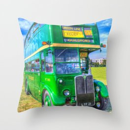 Double Decker London Bus Throw Pillow