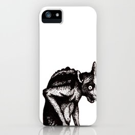 Black Gargoyle iPhone Case