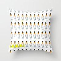 family Throw Pillows featuring family by Nayoun Kim