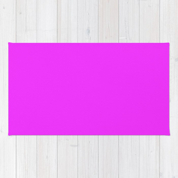 Solid Bright Neon Pink Color Rug