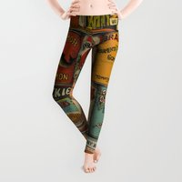pen Leggings featuring Canned in the USA by Megs stuff...