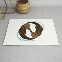 Cute Sea Otter Rug