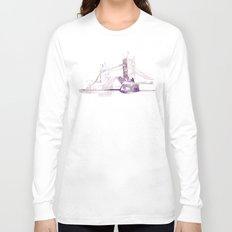 Watercolor landscape illustration_London Bridge Long Sleeve T-shirt