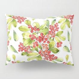 Luscious Red Berries Watercolor Pillow Sham