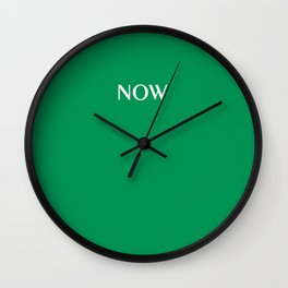 NOW FERN GREEN SOLID COLOR Wall Clock