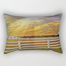 Field of Rays Rectangular Pillow