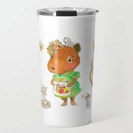 Capybara and friends Travel Mug