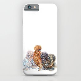 Silkie Chicken Sisters iPhone Case