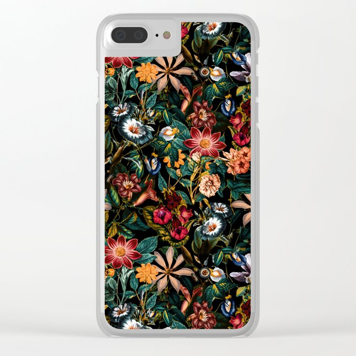 NIGHT-GARDEN-XXIV Clear iPhone Case