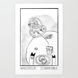 A Peaceful Breakfast Art Print