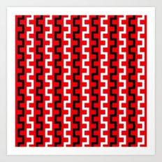 Red line flow Art Print