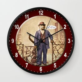 "One Cool Cat: ""Well . . . Hello, kitties!"" Wall Clock"
