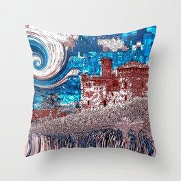 Castello Langhe -Art Digital Original- Throw Pillow