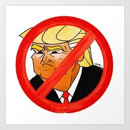 #Resist Orange 45 Art Print