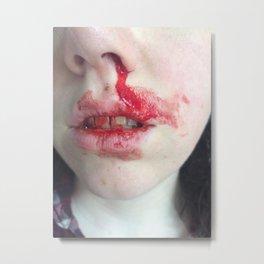 nosebleed Metal Print