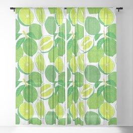 Lime Harvest Sheer Curtain