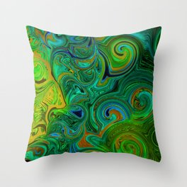 FREE ABSTRACT FACE SHILOUETTE Throw Pillow