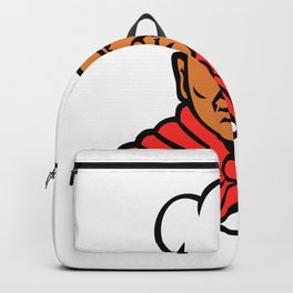 African American Baker Chef Cook Mascot Backpack