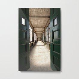green entryway. Metal Print