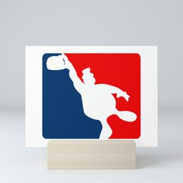 Funny Big Guy Sports Logo Mini Art Print