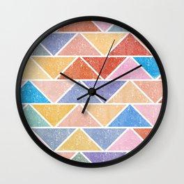 Colorful Triangle IV(Ranging Tribuj Char) Wall Clock
