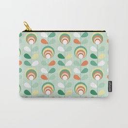Retro peacock eyes on minty green Carry-All Pouch