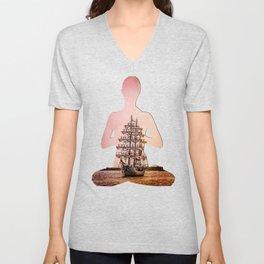 Tall ship Gloria Unisex V-Neck